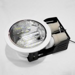 4002 4-inch 2 X E27 Down Light Round (White) c/w [2pcs] 7W 3U LED PLCE
